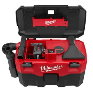 "MILWAUKEE ELECTRIC TOOL Cordless Lithium-Ion Wet/Dry Vaccum Cleaner, 15.75"" x 22.5"" x 11.5"""