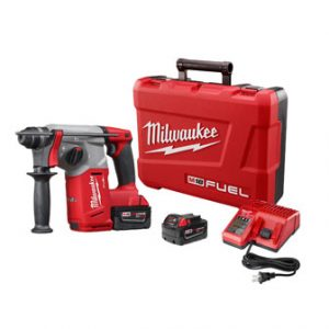 M18 FUEL 18-Volt Lithium-Ion Brushless Cordless 1 in. SDS-Plus Rotary Hammer Kit W/(2) 5.0Ah Batteries, Hard Case