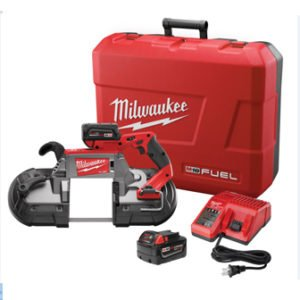 M18 FUEL 18-Volt Lithium-Ion Brushless Cordless Deep Cut Band Saw with (2) 5.0Ah Batteries, Charger, Hard Case