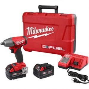 Milwaukee 2755B-22 M18 FUEL 1/2″ Compact Impact Wrench Kit