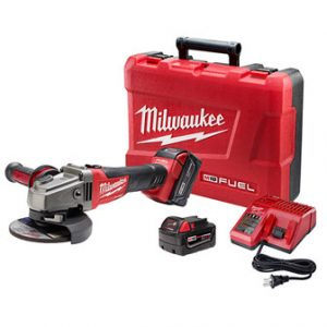 M18 FUEL 18-Volt Lithium-Ion Brushless Cordless 4-1/2 in. /5 in. Grinder W/ Slide Switch Kit W/ (2) 5.0Ah Batteries