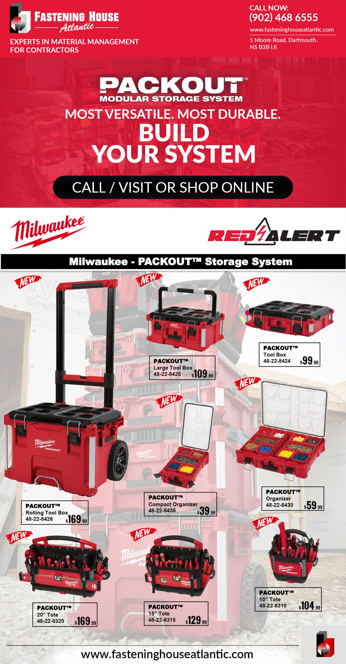 PROMOTION-MIlWAUKEE PACKOUT MODULAR STORAGE SYSTEM