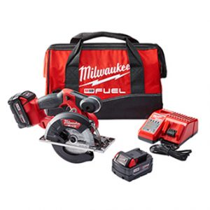 M18 FUEL 18-Volt Lithium-Ion Brushless Cordless Metal Cutting 5-3/8 in. Circular Saw Kit w/ (2) 5.0Ah Batteries, Charger