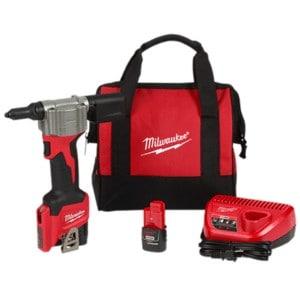 2550-22_KitMilwaukee 2550-22 M12 Cordless Pop Rivet Tool