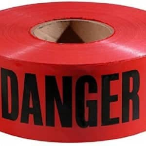 "Red Danger Barricade Tape 3"" x 1000', (10 Pack)"