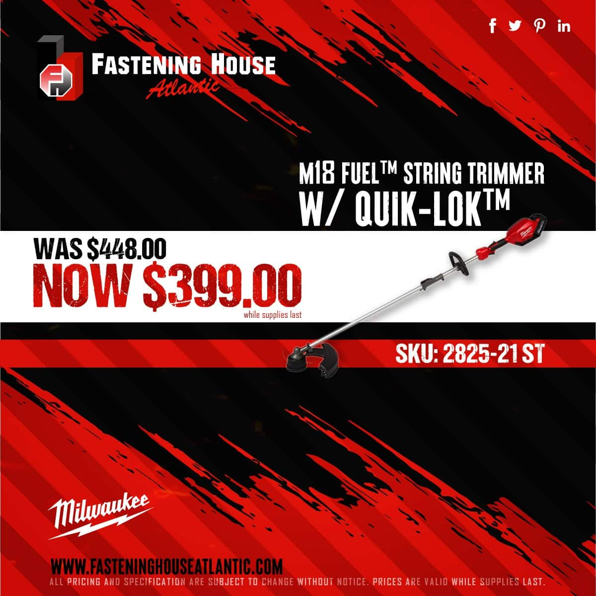 M18 FUEL™ STRING TRIMMER W/ QUIK-LOK™ (while supplies last)