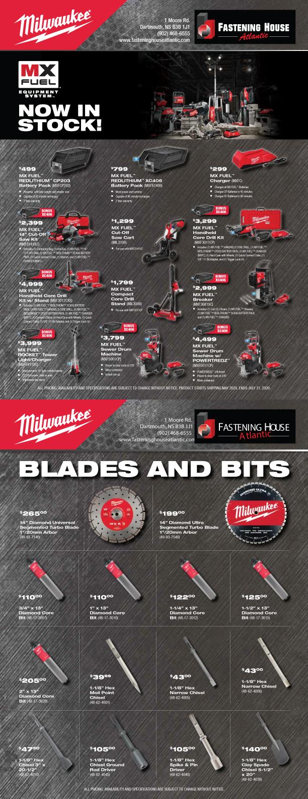 Now In Stock MX Tools & Diamond Blades & Bits